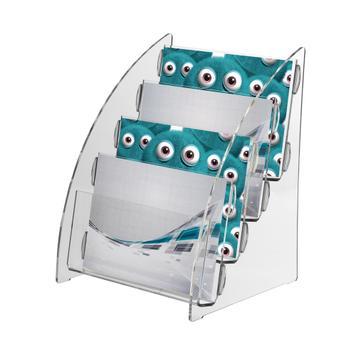 """Distributore volantini da tavolo 4-file """"Nigella"""" formato DIN A5 orizzontale"""