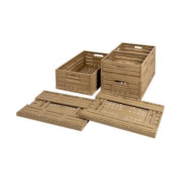 Scatola pieghevole in legno