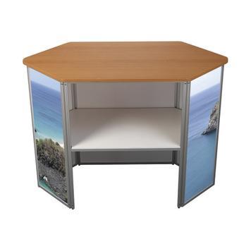 """Desk pieghevole """"360"""" esagonale"""