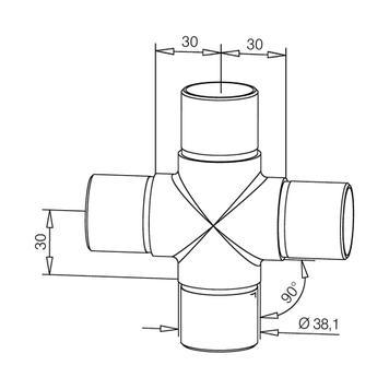 Connettore tubo a croce