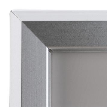 Portaposter basculante in alluminio