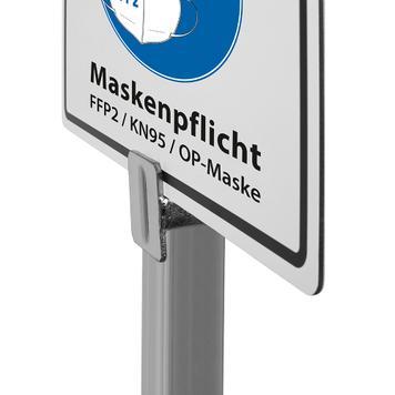 Cartello obbligo mascherine mascherine FFP2, KN95, OP