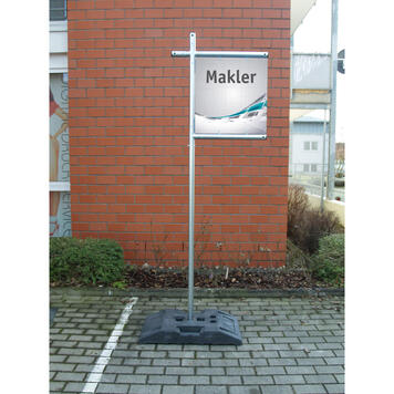"Cornice banner a innesto in acciaio ""Makler"""
