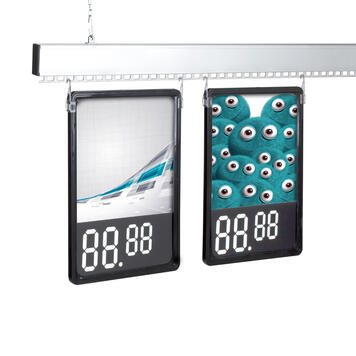 Binario portaposter da 50 mm