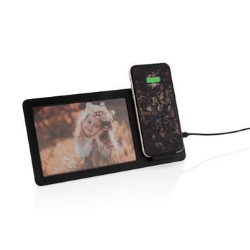 Caricabatterie 5W, senza fili, con cornice per foto