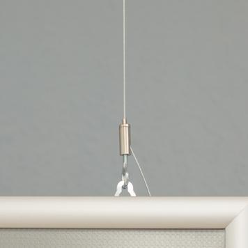 Cornice a scatto bifacciale, profilo da 25 mm, anodizzato argento, spigoli smussati
