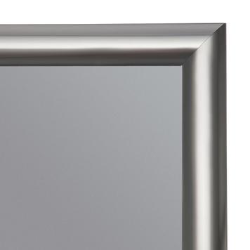 Cornice a scatto, profilo da 25 mm, effetto acciaio inox, spigoli smussati