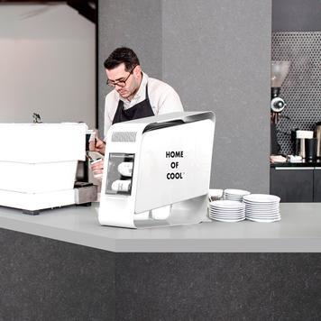 """Mini-frigo da banco """"Home of Cool"""", vetrina refrigerata"""