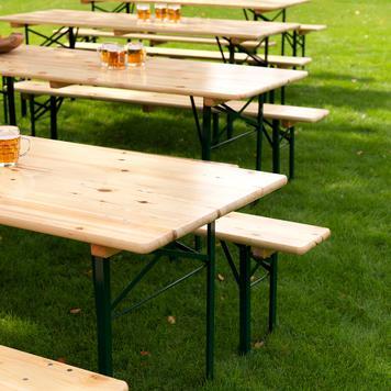 Set tavolo e panche da fiera
