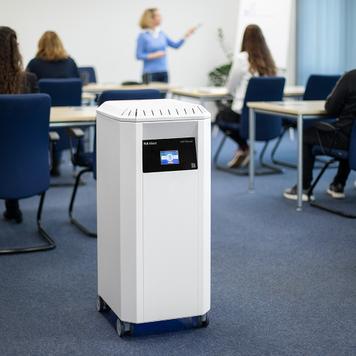 """Depuratore d'aria professionale """"PLR-Silent""""con filtro HEPA H14 e luce UV-C"""